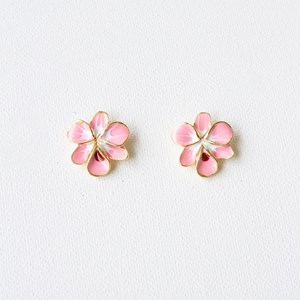 Enamel Orchid Stud Earrings