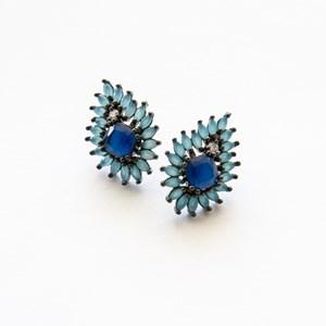 Cubic Zirconia Bohemian Teardrop Stud Earrings