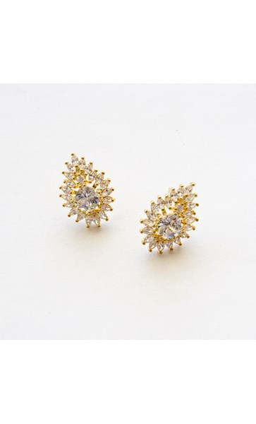 Cubic Zirconia Bohemian Teardrop Stud Earrings