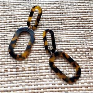 Duo Ovals Resin Earrings