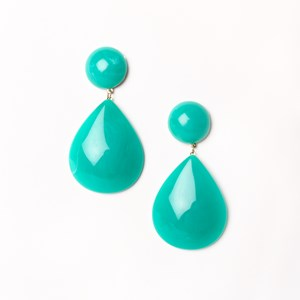 Oversize Resin Teardrop Earrings