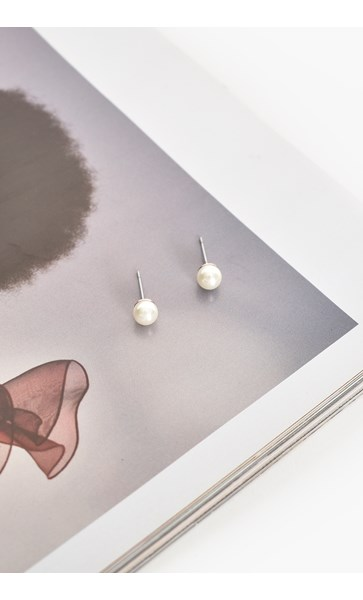Small Glass Pearl Stud Earrings