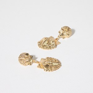 Marine Life Seashells Earrings