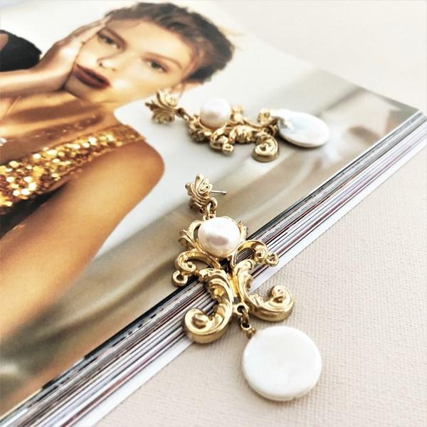 Royale Pearl Drop Earrings
