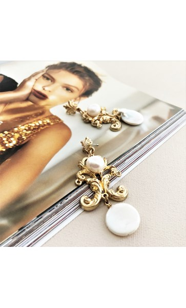 Royale Pearl Drop Earrings