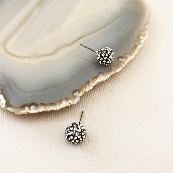 Diamante Ball Stud Earrings