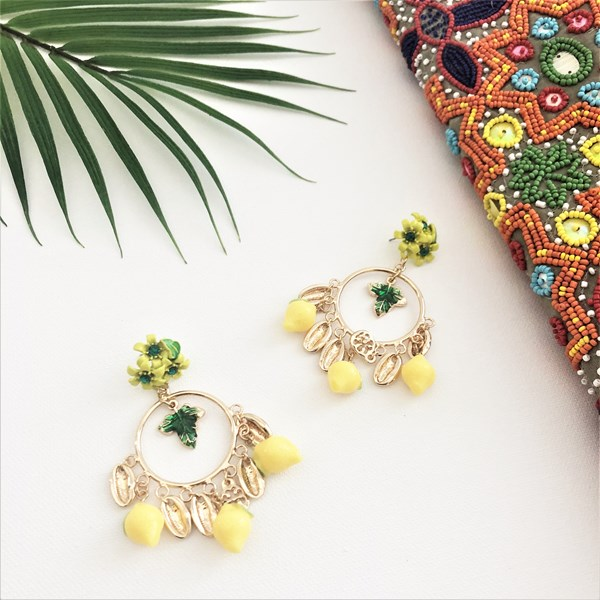 Limoncello Statement Ring Drop Earring