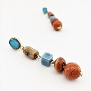 Mixed Hand Linked Bead Earrings