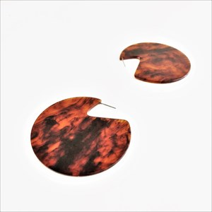 Large Crescent Resin Earrings