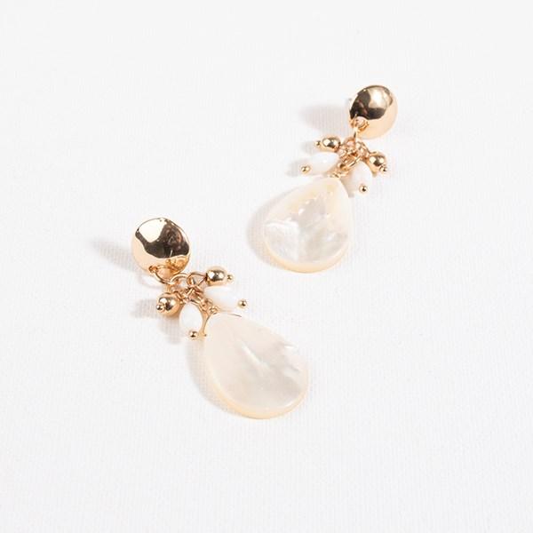 Metal Top Mother of Pearl Earrings