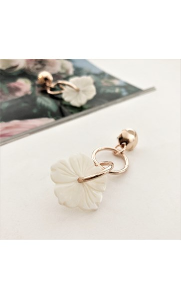 Shell Flower Drop Rings Earrings