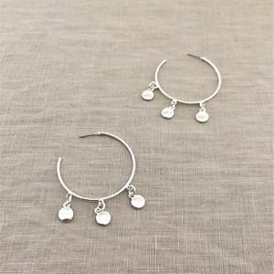 Metal Droplets Hoop Earrings