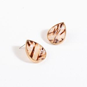 Teardrop Resin Stud Earrings