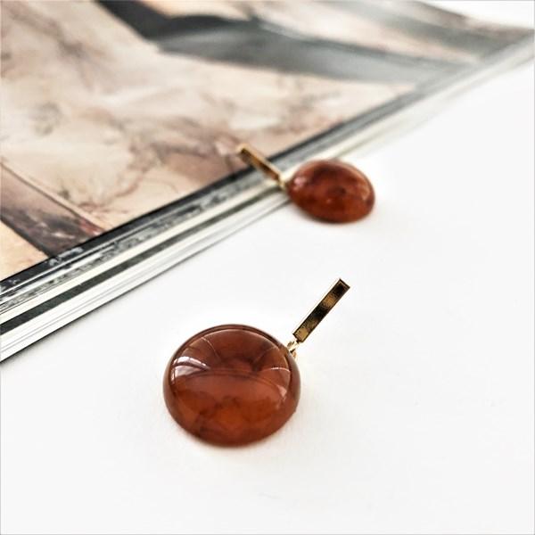Metal Rod Resin Drops Earrings