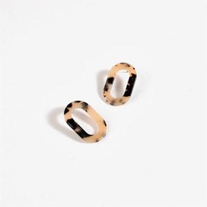 Resin Oval Earrings