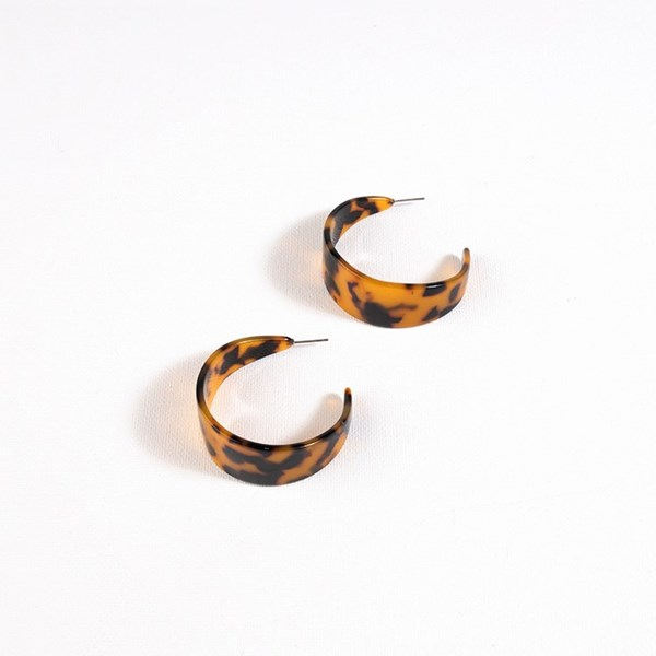 Juno Resin Curved Front Earrings