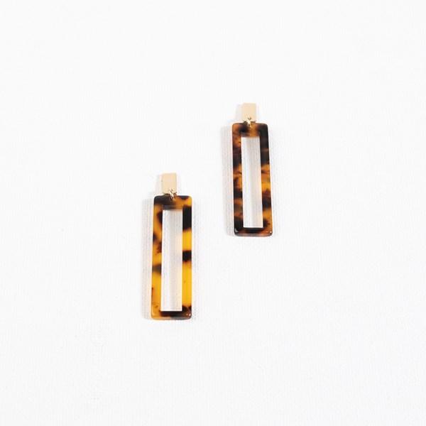 Rectangle Drop Resin Earrings