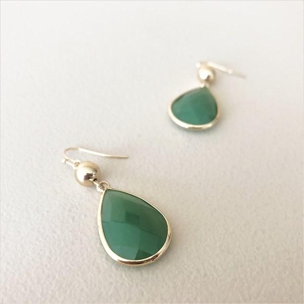 Facet Glass Hook Earrings