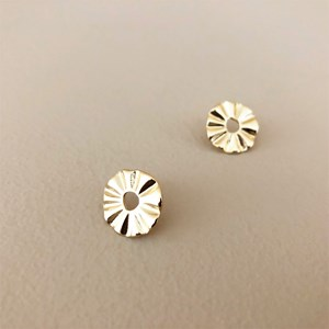 Mini Corrugated Ring Earrings
