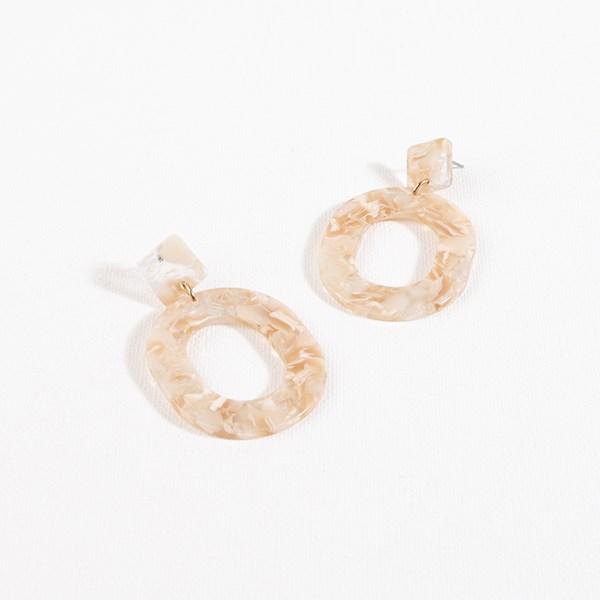 Rikki Resin Oval Earrings
