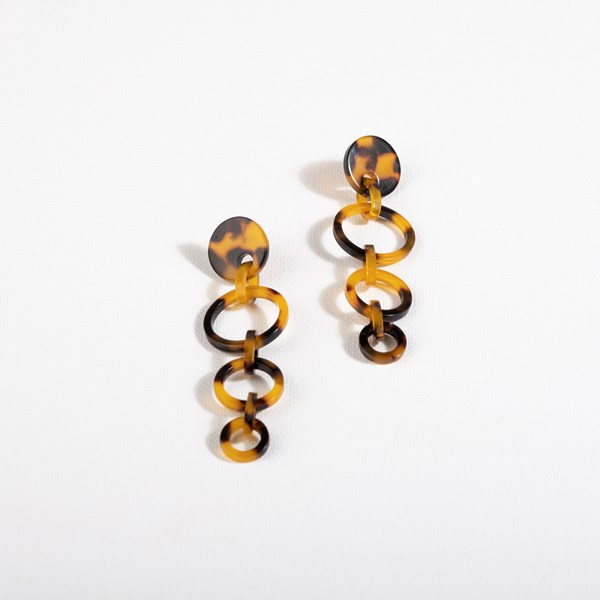 Trio Resin Links Drop Earrings
