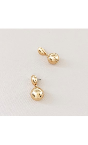 Metal Ball Drop Stud Earrings