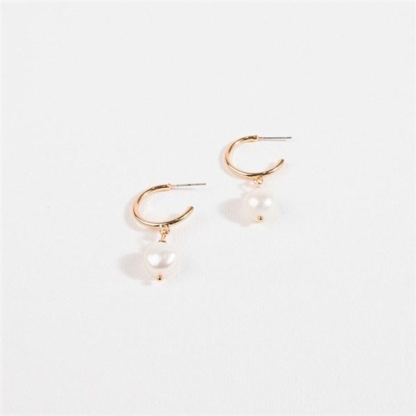Pearl Drop Huggy Earrings