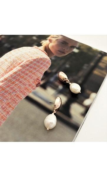 Pod & Pearl Drop Earrings
