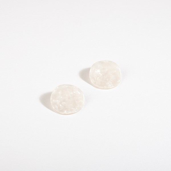 Wave Resin Circle Stud Earrings