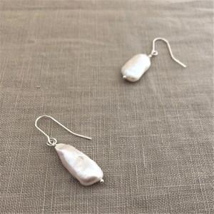 Natural Long Pearl Hook Earrings