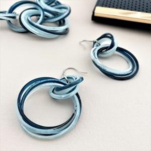 Multi Rings Hook Earrings