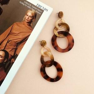 Trio Links Resin Earrings