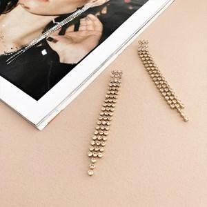 Diamante Chain Drops Earrings