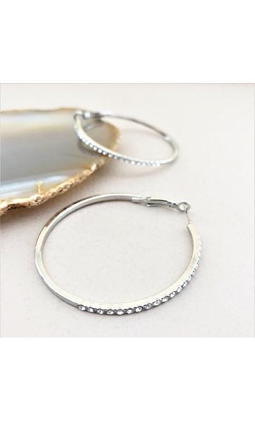 Diamante Front Hoop Earrings