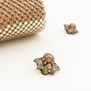 Jewelled Fan Stud Earrings
