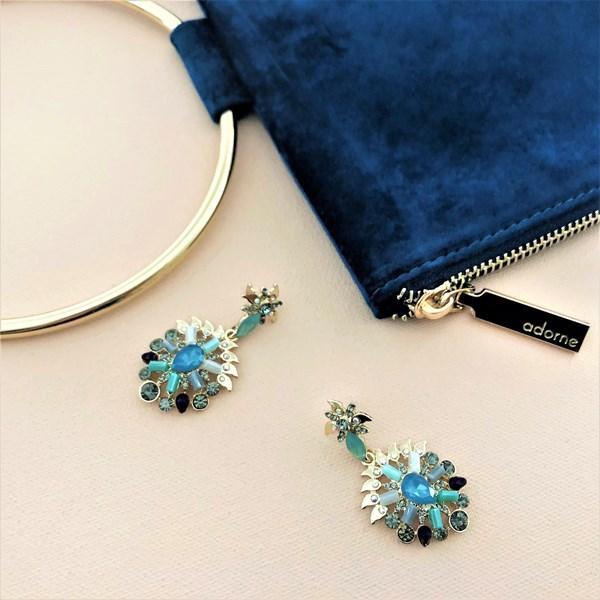 Jewelled Petals Stud Earrings