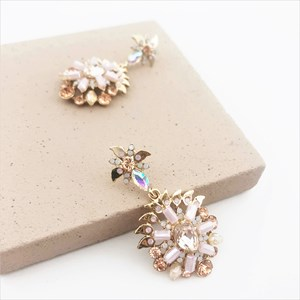 Jewelled Petals Stud Earrings