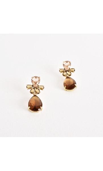 Teardrop Facet Glass Earrings