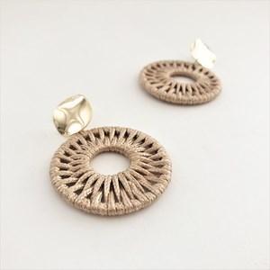 Woven Circle Metal Earrings
