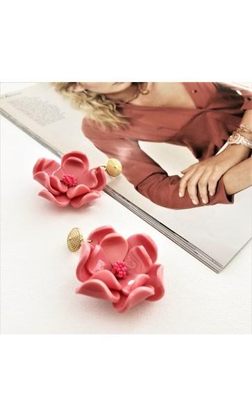 Bead Centre Resin Floral Earrings