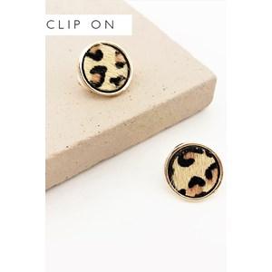 Hide Button Clip On Earrings