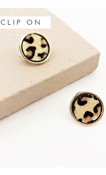 Hide Button Clip On Earrings