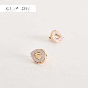 Teardrop Metal Insert Clip On Earrings