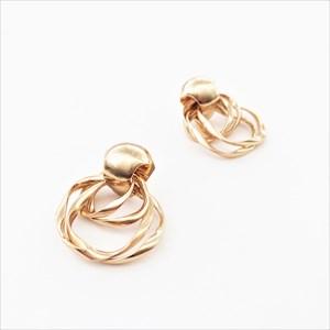 Metal Links Stud Earrings
