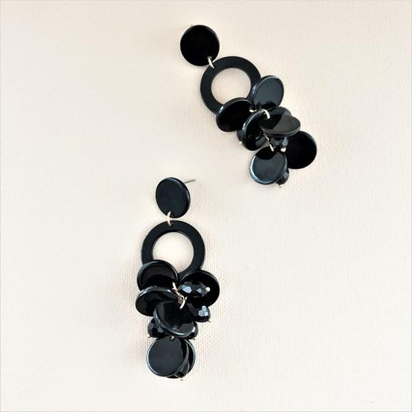 Layered Resin Petals Ring Earrings