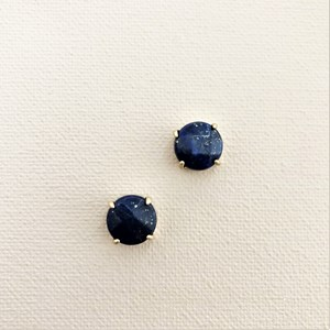 Clawed Natural Stone Stud Earrings