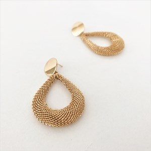 Mesh Teardrop Statement Earrings