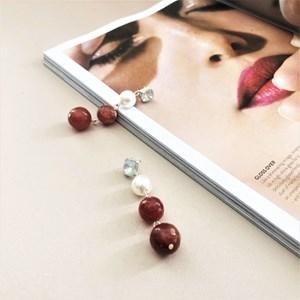 Bead & Pearl Hand Link Drop Earrings