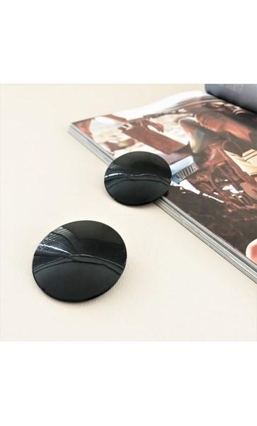 Oversized Resin Disk Stud Earrings