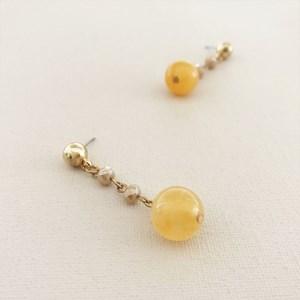 Stone & Crystal Hand Link Drop Earrings